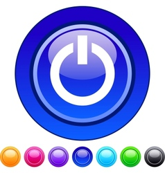 Power circle button vector image vector image