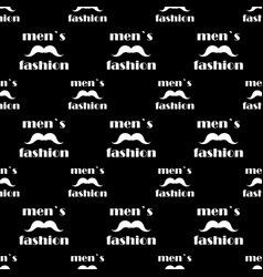 seamless pattern with mustache vector image