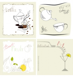 set of template for menu vector image vector image