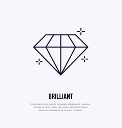 Shining brilliant diamond jewelry vector
