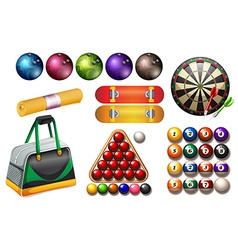 Sport and game equipment vector