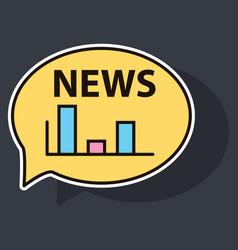 sticker breaking news online announcement message vector image