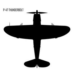 World war ii - republic p-47 thunderbolt vector