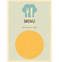 Retro menu cover vector