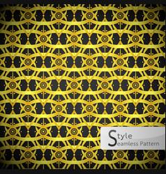 Lotus flower mesh loop ribbon gold vintage vector