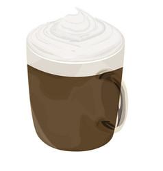Hot mocha coffee icon vector