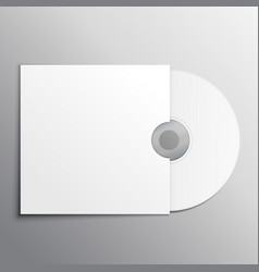 Cd dvd mockup presentation template vector