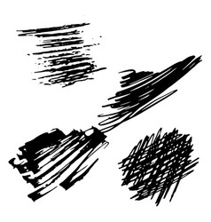 Background black and white abstract texture with vector