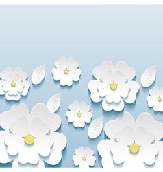 Wallpaper with 3d flowers sakura vector image
