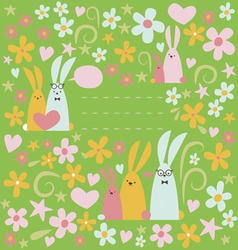 Summer design with rabbits vector