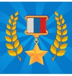 Star of russia hero vector