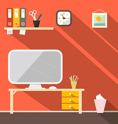 Studying room - office vector