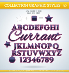 Currant graphic styles for design use for decor vector