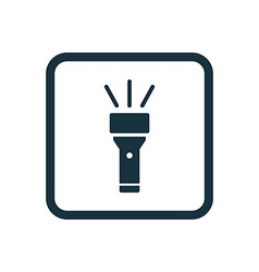 Flashlight icon rounded squares button vector