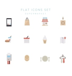 Big set of simple shopping icons vector