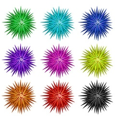 Colorful balls with spikes vector