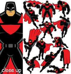 Superhero Set 2 vector image