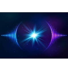Sound waves at cosmic background vector