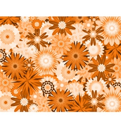orange flowers vector image