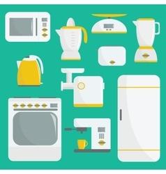 Flat kitchenware vector image