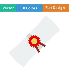 Flat design icon of Diploma vector image
