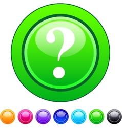Help circle button vector image