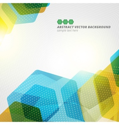 Abstract hexagon geometric color background eps10 vector