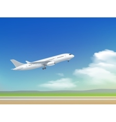 Airplane takeoff poster vector