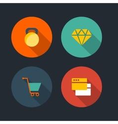 Basic flat icon set vector