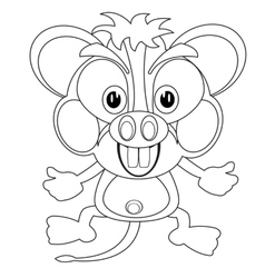 Blackenning and blanching cartoon mouse vector image vector image