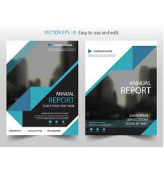 blue black triangle brochure annual report vector image