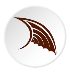 Brown birds wing icon flat style vector