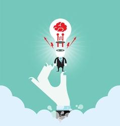 Business idea connection concept vector