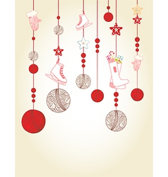 Christmas and New Year card design vector image vector image