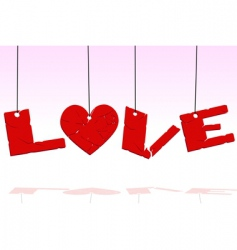 hanging love vector image vector image