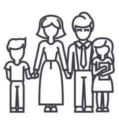 happy familyson mother father daughter vector image vector image