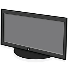 highdefinition tv vector image