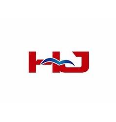 Hj Logo Graphic Branding Letter Element vector image