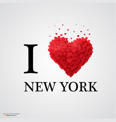 I love new york heart sign vector