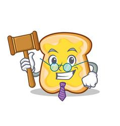 judge slice bread cartoon character vector image vector image