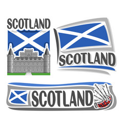 Logo for scotland vector