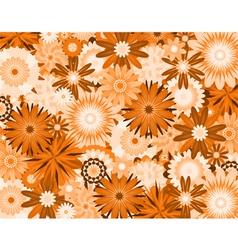 Orange flowers vector
