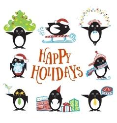 Penguin cartoon character vector image