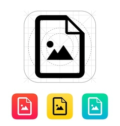 Photo file icon vector