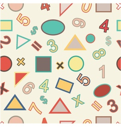 Seamless of numbers and geometric shapes vector image vector image