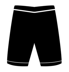 Shorts the black color icon vector