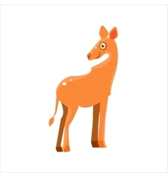 Smiling antelope flat vector