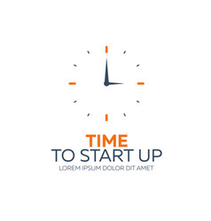 time to start up watch flat vector image