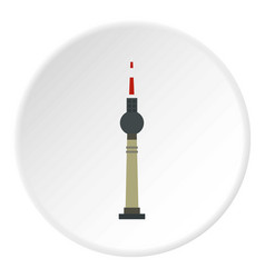 Tv tower berlin icon circle vector