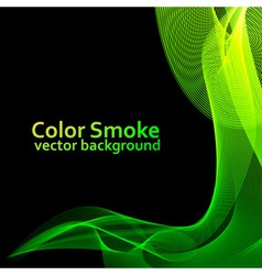 Abstract green smoke vector